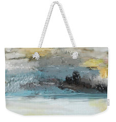 Cold Day Lakeside Abstract Landscape Weekender Tote Bag