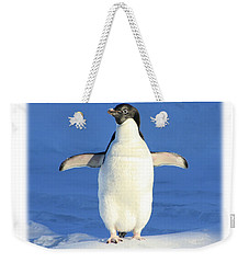 Cold Feet - Penquin In The Snow Weekender Tote Bag