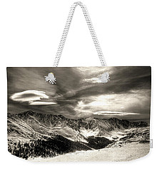 Cold Front On The Continental Divide Weekender Tote Bag