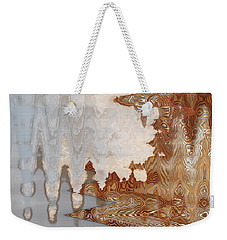 Weekender Tote Bag featuring the digital art Cold Like Ice by Ann Johndro-Collins