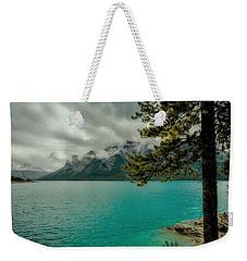 Cold Morning On Lake Minnewanka Weekender Tote Bag