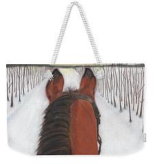 Cold Ride Weekender Tote Bag