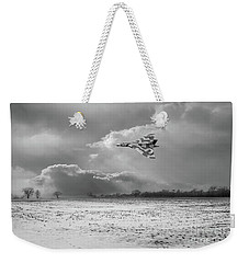 Weekender Tote Bag featuring the photograph Cold War Warrior Bw Version by Gary Eason
