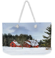 Cold Winter Days In Vermont Weekender Tote Bag by Sharon Batdorf