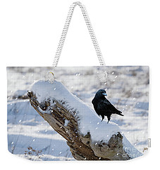 Cold Winter Weekender Tote Bag