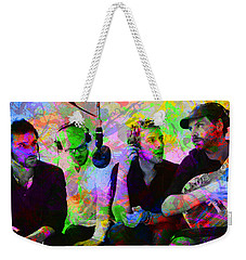Coldplay Band Portrait Paint Splatters Pop Art Weekender Tote Bag
