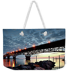 Coleman Bridge Reflections Weekender Tote Bag