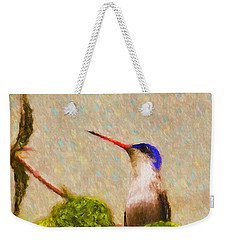Weekender Tote Bag featuring the photograph Colibri by John Kolenberg