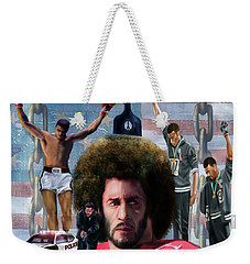 Colin Kaepernick Amongst The Brave Few 2a Weekender Tote Bag