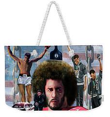 Colin Kaepernick Amongst The Brave Few 2a Weekender Tote Bag
