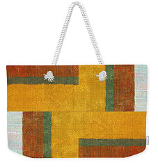 Collage No. 10 Weekender Tote Bag by Michelle Calkins