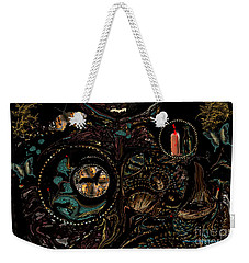 Weekender Tote Bag featuring the painting Collage Of Faith And Life by Sherri Of Palm Springs
