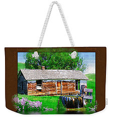 Weekender Tote Bag featuring the photograph Collage by Susan Kinney