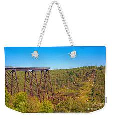 Collapsed Kinzua Railroad Bridge Weekender Tote Bag by Randy Steele