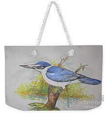 Collared Kingfisher Weekender Tote Bag