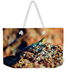 Collared Lizard Weekender Tote Bag by Tamyra Ayles