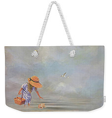 Collecting Sea Shells Weekender Tote Bag by Mary Timman