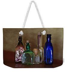 Collection Of Vintage Bottles Photograph Weekender Tote Bag