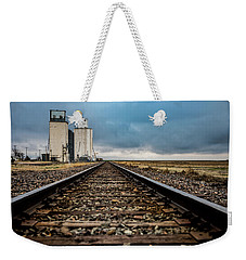Weekender Tote Bag featuring the photograph Collyer Tracks by Darren White