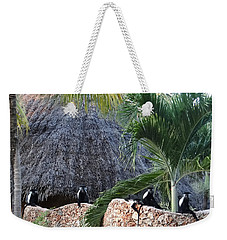Colobus Monkey Resting On A Wall Weekender Tote Bag