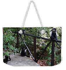 Colobus Monkeys At Sands Chale Island Weekender Tote Bag