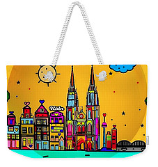 Weekender Tote Bag featuring the digital art Cologne Popart By Nico Bielow by Nico Bielow