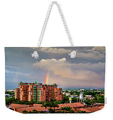 Colombian Rainbow Weekender Tote Bag by Randy Scherkenbach