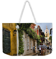 Colonial Buildings In Old Cartagena Colombia Weekender Tote Bag