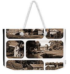 Colonial Industrial Quarter - Sepia Weekender Tote Bag
