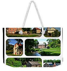 Colonial Industrial Quarter In Spring Weekender Tote Bag
