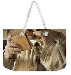 Colonial Man Shaving Weekender Tote Bag by Kim Henderson