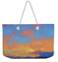 Weekender Tote Bag featuring the digital art Color Abstraction Lvii by David Gordon
