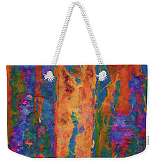 Weekender Tote Bag featuring the photograph Color Abstraction Lxvi by David Gordon