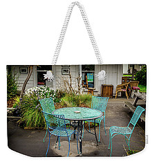 Weekender Tote Bag featuring the photograph Color At Cafe by Perry Webster