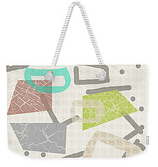 Color Block Weekender Tote Bag