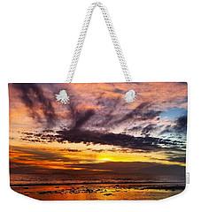 Color Burst Malibu Sunset Weekender Tote Bag