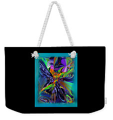 Weekender Tote Bag featuring the digital art Color Burst by Yul Olaivar