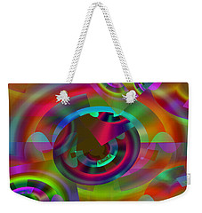 Weekender Tote Bag featuring the digital art Color Dome by Lynda Lehmann