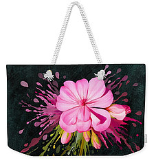 Weekender Tote Bag featuring the painting Color Eruption  by Ivana Westin