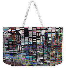 Color Grid - Gold Line Weekender Tote Bag