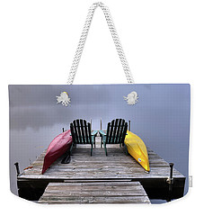 Weekender Tote Bag featuring the photograph Color In The Fog by David Patterson