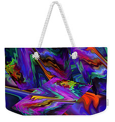 Weekender Tote Bag featuring the digital art Color Journey by Lynda Lehmann