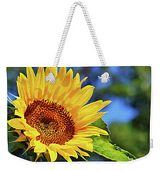 Color Me Happy Sunflower Weekender Tote Bag by Christina Rollo