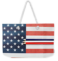 Weekender Tote Bag featuring the photograph Color Me Red White And Blue by Rebecca Cozart