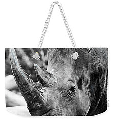 Weekender Tote Bag featuring the photograph Color Me Rhino by John Haldane