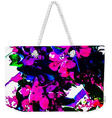 Weekender Tote Bag featuring the painting Color Me With Flowers by Jennifer Lake