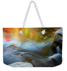 Color On The Swift River Nh Weekender Tote Bag by Michael Hubley