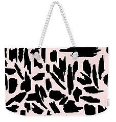 Color Pattern 5 Black Weekender Tote Bag