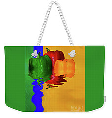 Weekender Tote Bag featuring the photograph Color Pop Peppers By Kaye Menner by Kaye Menner