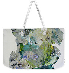 Weekender Tote Bag featuring the painting Color Whirl by Mary Sullivan